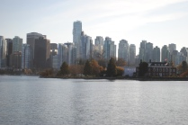 View of downtown Vancouver from Stanley Park