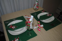 Our table all set for Christmas dinner :)
