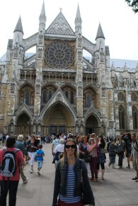 At Westminster Abbey, England, in September