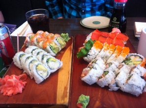 Finally found a decent sushi place and ate as much as we could!