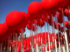 Close up on the balloon exhibit