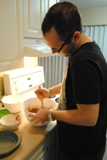 Rob making brownies :)