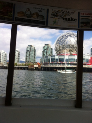 View of Science World from the ferry