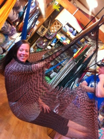 Carol in a hammock!