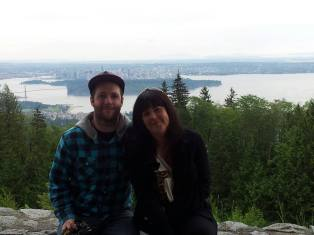 Rob and Andrea with Vancouver in the background