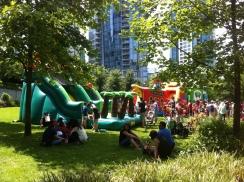 Bouncy castles!