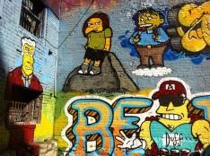 Simpsons graffiti