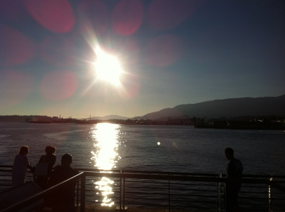 Almost sunset time in North Vancouver