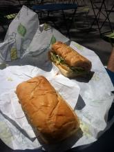 Yummy Subway lunch