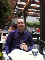 Rob at dinner :)