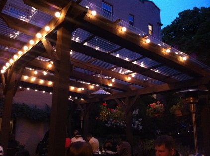 Beautiful patio, perfect spot for dinner!