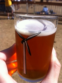 The cutest little beer taster glass, they were handing these out