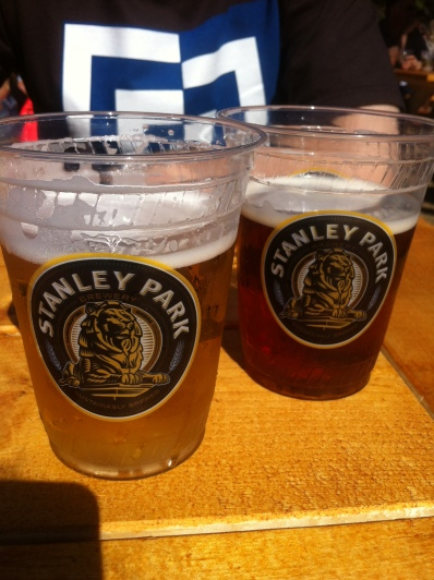 A Pilsner and an Ale...both delicious