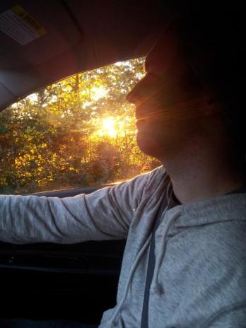 Rob driving to Bath