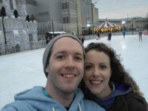 Rob and I on the rink