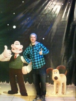 Rob hanging out with Wallace & Gromit
