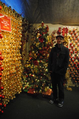 Rob in front of another beautiful Christmas tree