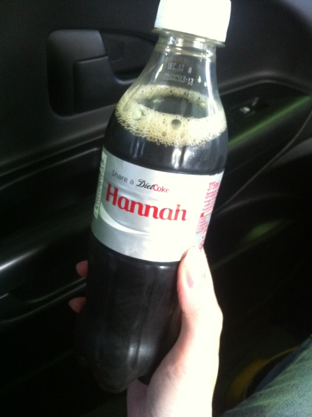 Diet Coke with my name on it :)